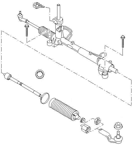 Схема рулевой рейки Ford